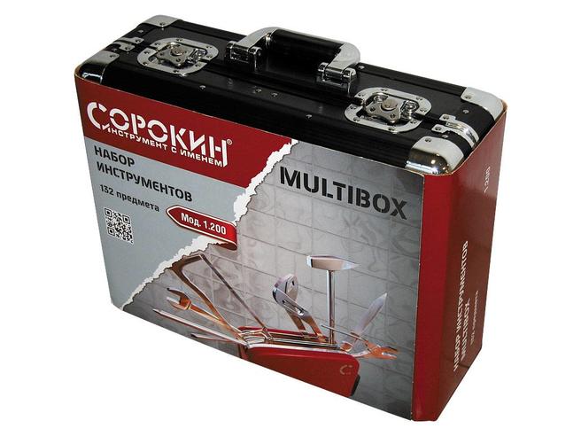 Набор инструментов Сорокин 1.200 Multibox в чемодане (132 предмета) Сорокин Ручной Инструмент