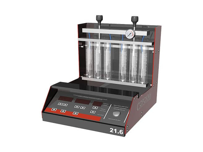 Сорокин 21.6 Стенд для тестирования и очистки 6-ти форсунок со встроенной УЗВ Сорокин Стенды и установки Замена жидкостей